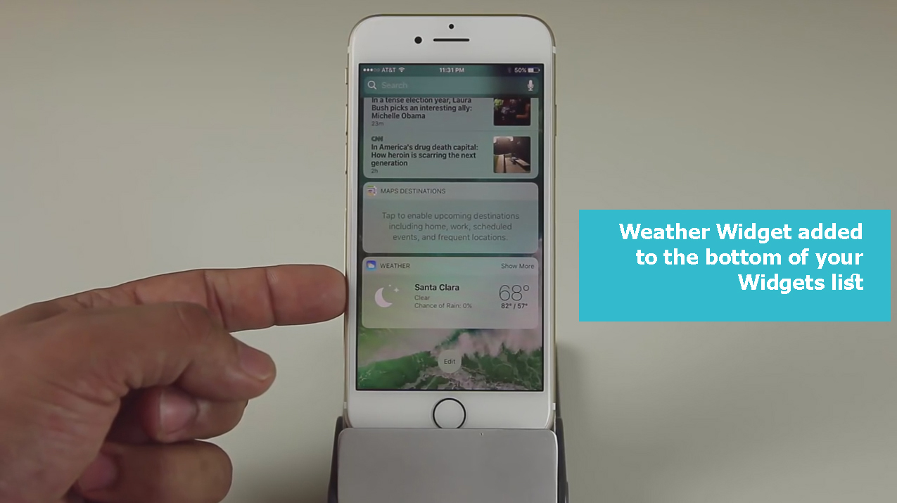 weather-widget-added-to-the-bottom
