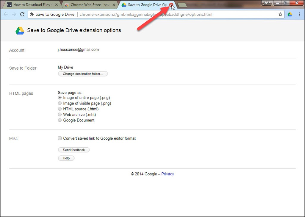 How to save files and Webpages Directly to Google Drive in