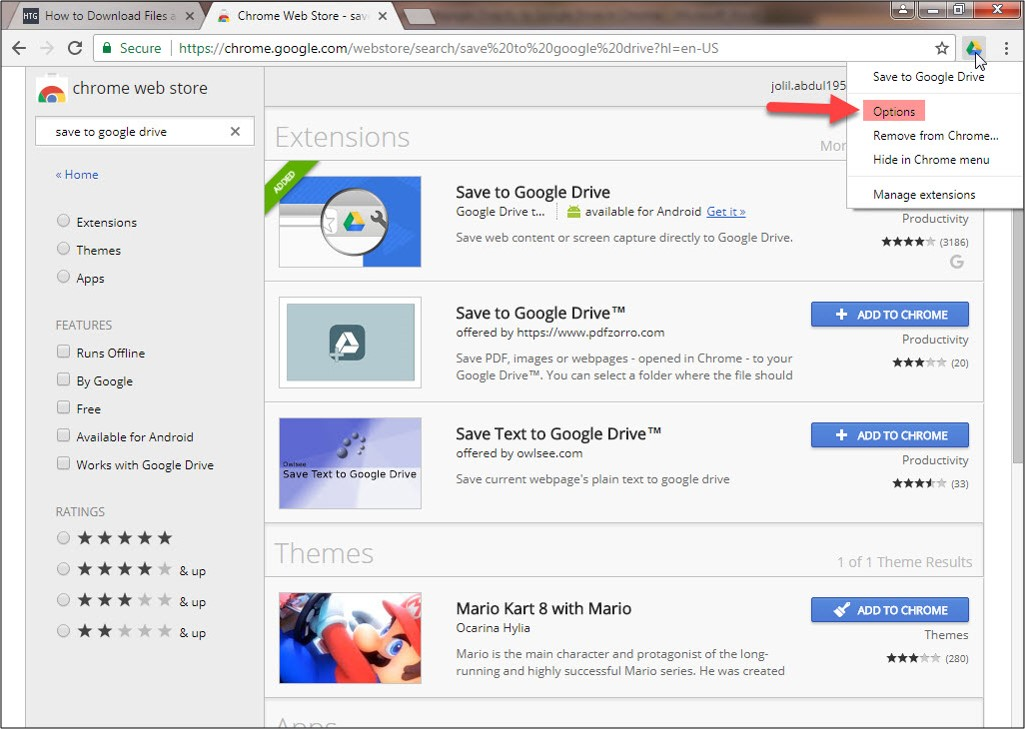 How to save files and Webpages Directly to Google Drive in Google Chrom